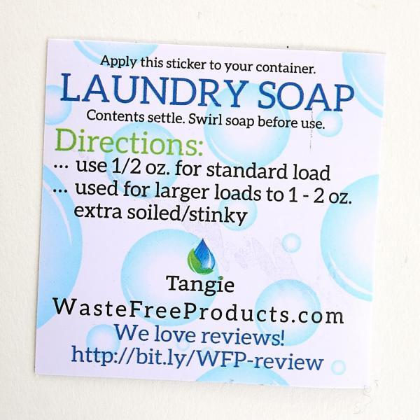 Instruction sticker for eco-friendly, plastic-Free packaging, carbon Neutral, cleaning solutions